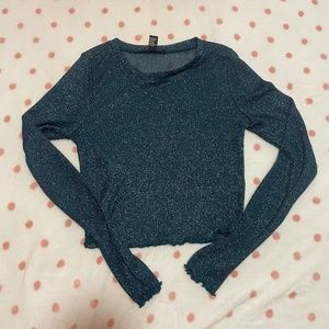Mesh greenish blue top from H&M